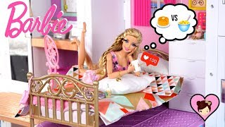 Barbie Doll Lets Instagram Control her Morning Routine - Doll Dress up in Dreamhouse