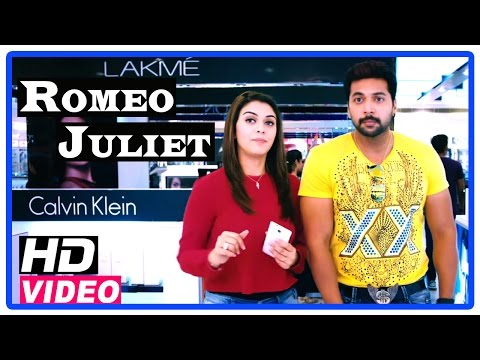Romeo Juliet Tamil Movie   Scenes   Hansika tries a make over of Jayam Ravi