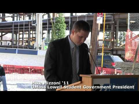 Mike Mizzoni '11 Student Gov. President Remarks & New UMass Lowell ETIC Time Capsule Ceremony