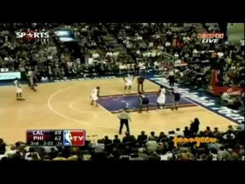 Allen Iverson 23pt vs Kobe Bryant Lakers 09/10 NBA *third quarter reminiscent of 2001 Finals