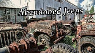 Abandoned WW2 jeeps 2017. Deserted army cars. Amazing abandoned military vehicles WW2