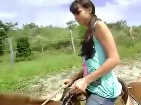 Girl And A Horse Hermosa Chica Y Caballos video