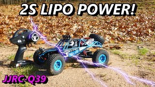 JJRC Q39 RC 4 WD BUGGY 2S LIPO TEST