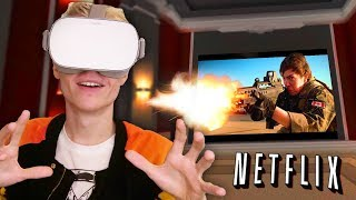 WATCH MOVIES, PLAY GAMES AND BROWSE THE INTERNET IN VR! | Virtual Desktop (Oculus Go Gameplay)