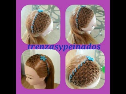 Peinados para niñas. (Tejido la maya o panal de abejas)