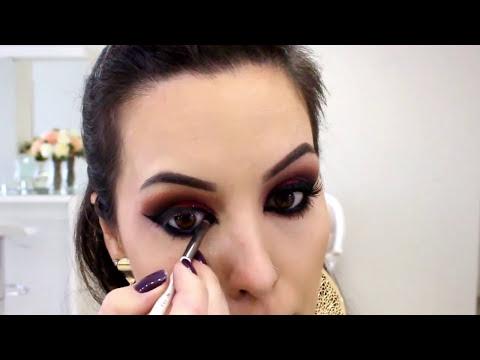 Maquiagem Dramática: Olho tudo e Boca tudo