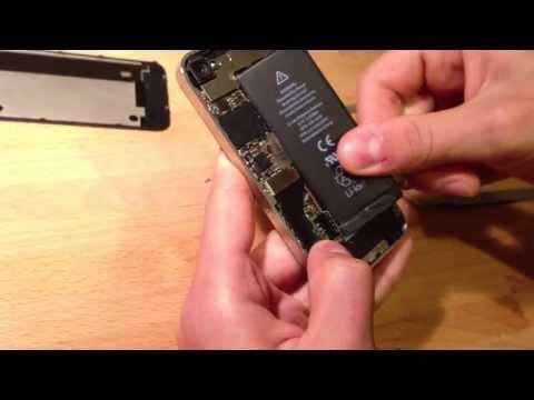 Как заменить батарейку в айфоне 4