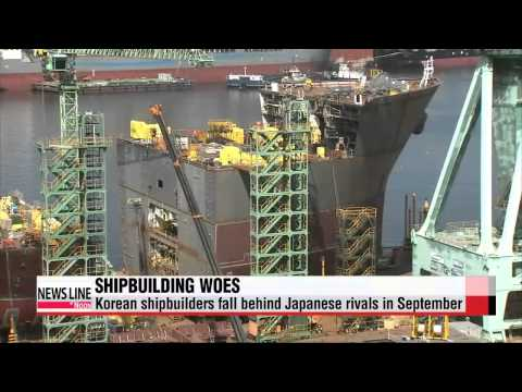 Korean shipbuilders fall behind Japanese rivals in September   조선사 수주경쟁 ′엔저′업은 일