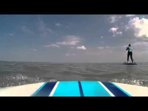 Paddleboarding at Botany Bay, kent.