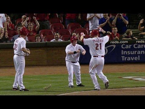 Frazier's two-run homer for batboy Teddy