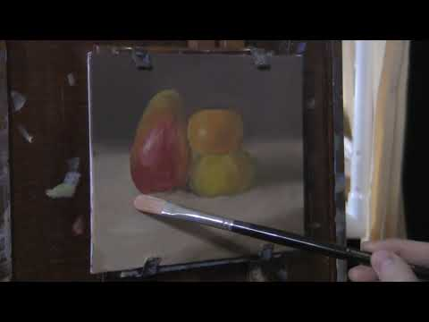 Mango & Mandarins - Oil Painting Time Lapse