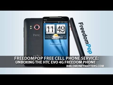 FreedomPop Free Cell Phone Service: Unboxing HTC EVO 4G Freedom Phone