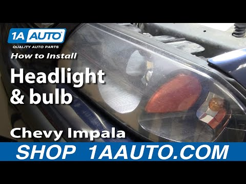 How To Install Replace Headlight and bulb Chevy Impala 00-05 1AAuto.com