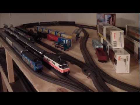 C track in place on my Marklin Layout Jan 2012 a