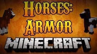 Minecraft Horses - How to Craft Horse Armor Minecraft 1.8