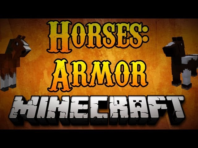 Minecraft Horses - How to Craft Horse Armor Minecraft 1.7.4