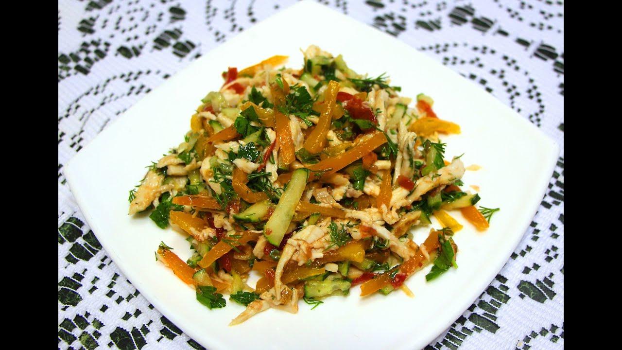 Салат из копченой грудинки рецепт