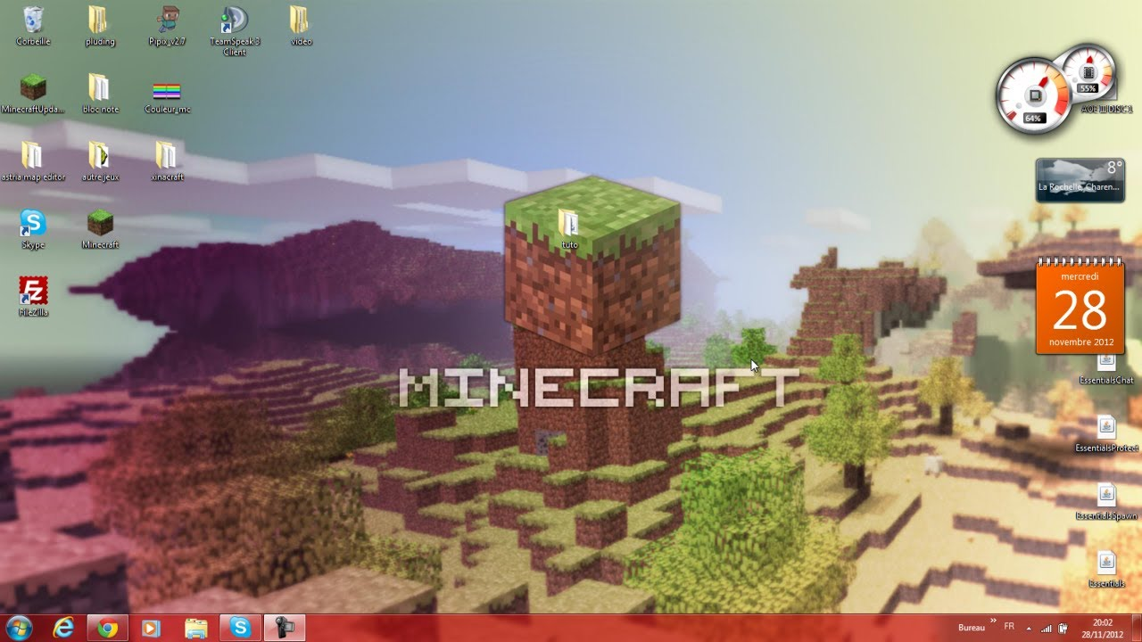 Tuto comment creer un serveur minecraft 1 5 4 avec et sans bukkit version cr - Comment creer un chateau dans minecraft ...