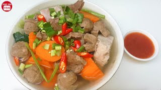 Yummy Cooking Beef Soup with Vegetables, Asian Food Cooking Recipe