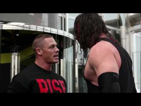 Wwe Superstar John Cena Performs Attitude Adjustment On Kane At Top Of Burj Khalifa video