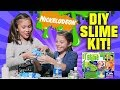 download mp3 dan video NICKELODEON DIY SLIME KIT!!! Glow In the Dark Googly Eye Foam Glitter Slime!