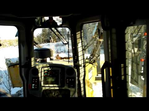 Caterpillar D6T Clearing Trees