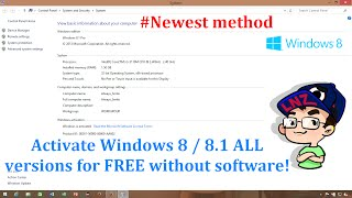 Activate Windows 8.1/8 ALL versions for FREE without software - Newest method ✔