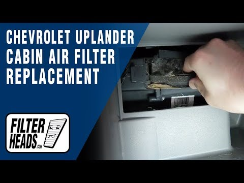 cabin air filter replacement  chevrolet uplander   youtube
