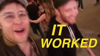 Garrett Watts making Andrew Siwicki laugh