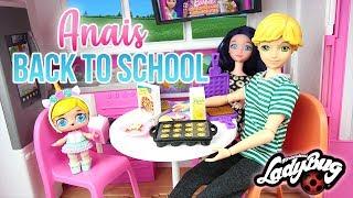 Miraculous LOL Family Surprise Bébé Anais Back to School Morning Routine