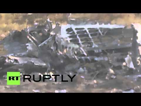 Ukraine: Debris of Ukrainian AN-30B found near Slavyansk