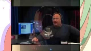 faggot anime with BIG Alex Jones