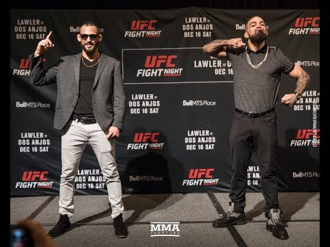 UFC on FOX 26: Mike Perry vs. Santiago Ponzinibbio Media Day Staredown - MMA Fighting