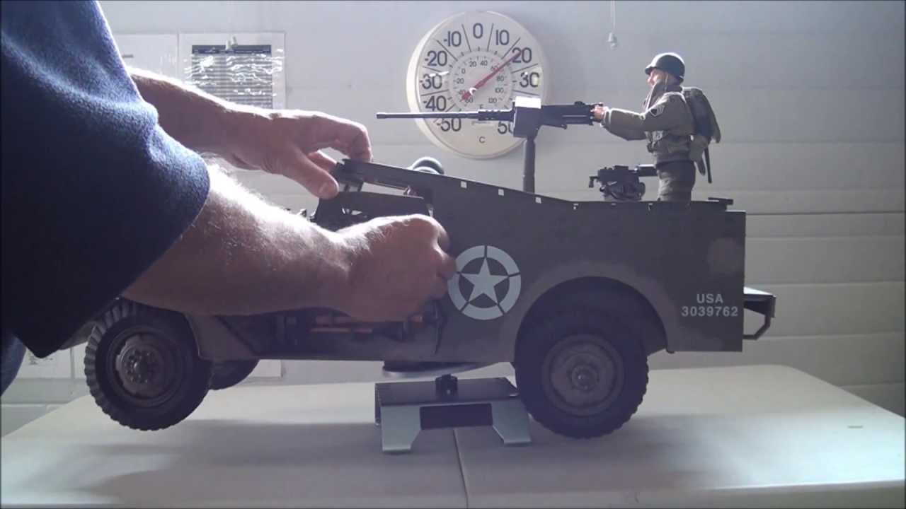 1 6 Scale Rc Ww2 Us M2 Scout Car Youtube