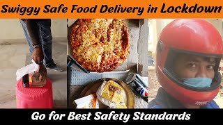 Quarantine Swiggy Safe Food Delivery Hyderabad | Burger King,Domino's Pizza | Best Safety Standards