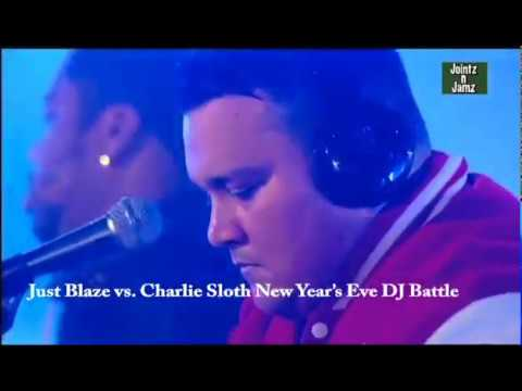Just Blaze Vs Charlie Sloth Battle On Channel 4 NYE Party