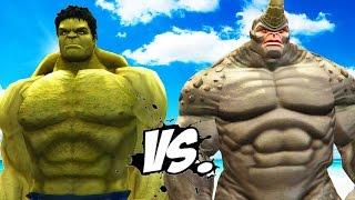 The Hulk vs Rhino (Spider-Man) - Epic Battle