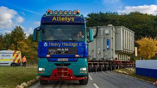 Allelys Heavy Haulage 240t transformer move