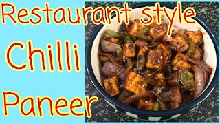 Restaurant Style Chilli Paneer Recipe/Indo Chinese dish