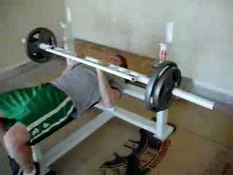 Homemade Tricep Bar Bench Press Youtube