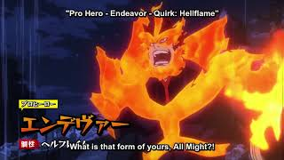 Endeavor saves All Might - Boku No Hero Academia