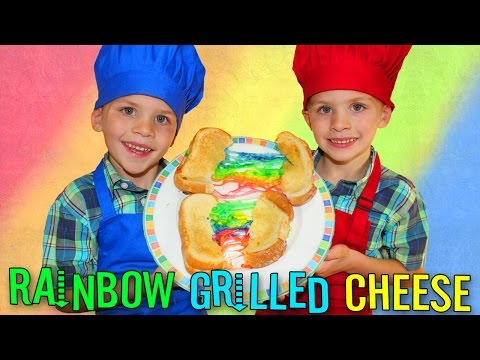 Kid Size Cooking: Rainbow Grilled Cheese Sandwich