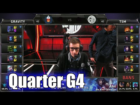 TSM vs Gravity | Game 4 Quarter Finals S5 NA LCS Summer 2015 Playoffs | Team Solomid TSM vs GV G4 QF