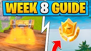 WEEK 8 CHALLENGES GUIDE! | Hungry Gnome Locations, Treasure Map! ( Fortnite Tips )