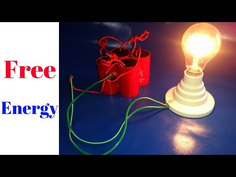 Free Energy Generator Light Bulb 220v 200 Watt With Electric Motor Capacitor thumbnail