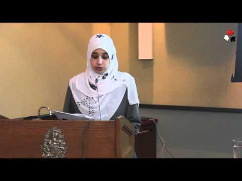 Sarah Attia - Wife of Khaled Al-Qazzaz - Human Rights in Egypt Conference at Canada Parliament