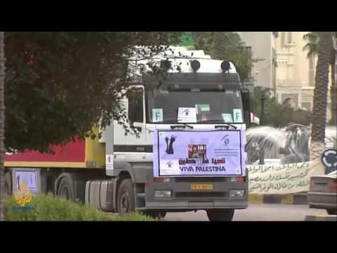 British Aid Convoy Arrives in Libya