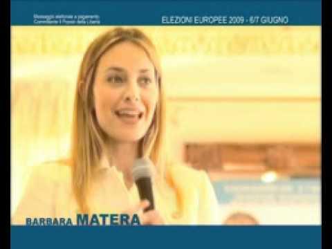 BARBARA MATERA SPOT CAMPAGNA ELEZIONI EUROPEE