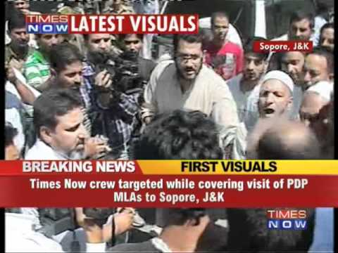 TIMES NOW crew targeted in Sopore