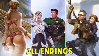Mortal Kombat 11 - All Characters ENDINGS (ALL Klassic Tower Endings) (MK11 2019)